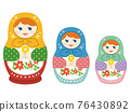 matryoshka doll, handicrafts, folk art 76430892