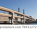 A double deck elevated structure Hamate bypass (Kobe City, Hyogo Prefecture) that runs in the waterfront area of Kobe. 76431272