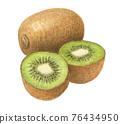 kiwifruit, kiwi, kiwis 76434950