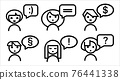 icon set people with speech bubble 76441338