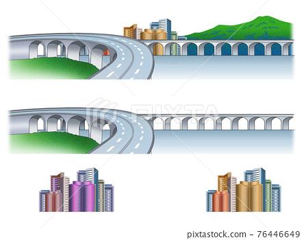 다리, 철교, 고속도로 76446649