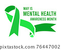 Mental Health Awareness Month vector illustration 76447002