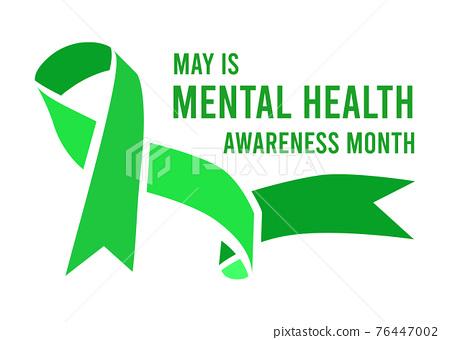 Mental Health Awareness Month vector illustration 76447002