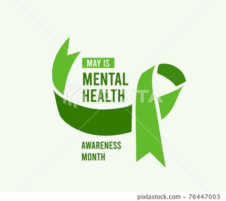 Mental Health Awareness Month vector illustration 76447003