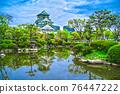 Osaka Castle and blue sky 76447222