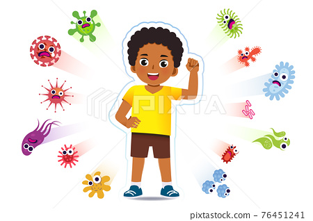 African boy have a immune to certain bacteria and viruses. 76451241