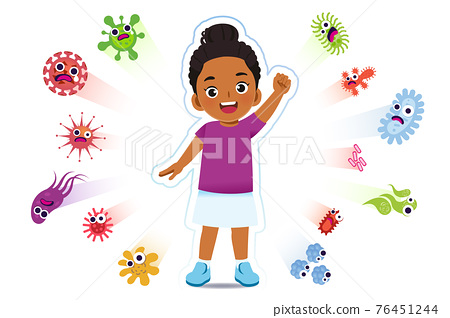African girl have a immune to certain bacteria and viruses. 76451244