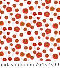 Poppy seamless pattern on white background 76452599