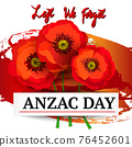 Anzac day concept 76452601