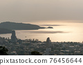 Landscape of patong city phuket in sunset evening time Beautiful tropical sea High angle view 76456644