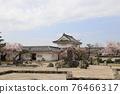 벚꽃과 기시와다 성 76466317