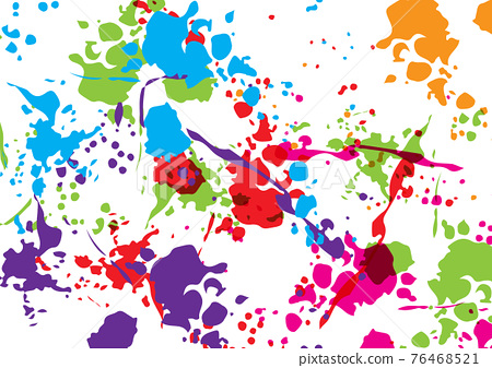 Abstract vector splatter color isolated color background design. illustration vector design. 76468521