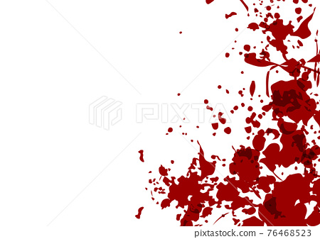 Abstract vector splatter red color isolated background design. illustration vector design. 76468523