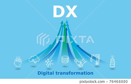 DX數字轉換插圖圖像矢量 76468880