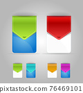 Colorful set of Elements for sale and advertisement. Template Blank for your web design. Jpeg Illustration 76469101