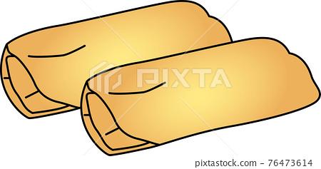 Illustration of fried spring rolls 76473614