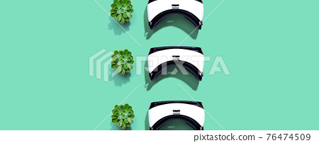 Virtual reality headset pattern with shadow 76474509