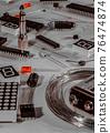 많은 전자 공작 부품 76474874