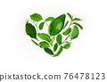 Environmental and Health Care Concept. Green Leaf in Shape of Heart. Green Energy, Renewable and Sustainable Resources 76478123