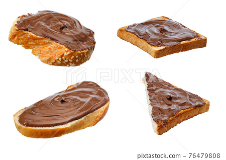 set of chocolate sandwiches isolated on white 76479808