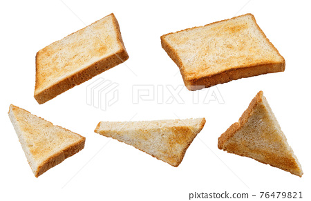 set of slices toast bread isolated on white 76479821