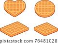 Waffle shapes cartoon set 76481028
