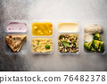 containers with healthy food 76482378