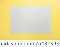 Gray frame on yellow background. 76482393