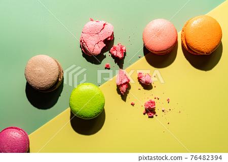 Cookie macaron or macaroon 76482394