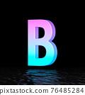 Cyan magenta font Letter B 3D 76485284