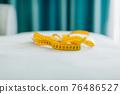 Measuring tape centimeter background 76486527