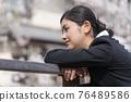 businesswoman, sakura, female 76489586