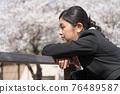 businesswoman, sakura, female 76489587