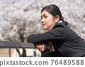 businesswoman, sakura, female 76489588