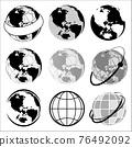 地球儀 土地 土 76492092