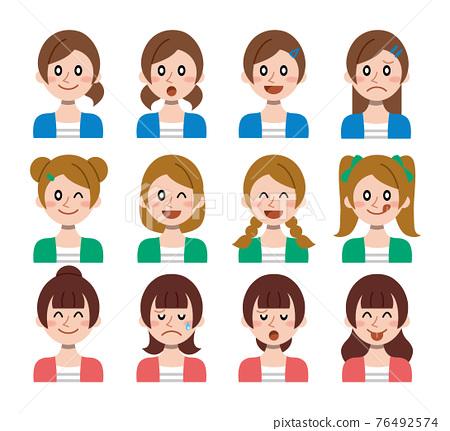 여성, 여자, 헤어스타일 76492574