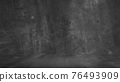 Old black background. Grunge texture. Dark wallpaper. Blackboard. Chalkboard. Concrete. 76493909