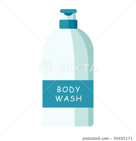 Cartoon vector illustration object body wash bottle 76495271
