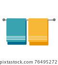 Cartoon vector illustration object bath towel 76495272