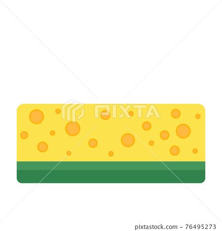 Cartoon vector illustration object clean sponge 76495273