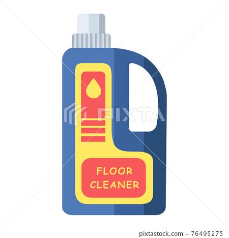 Cartoon vector illustration object floor cleaner bottle 76495275