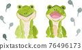 青蛙 蝌蚪 水彩畫 76496173