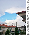 Housing Aatmosphere in Asia Under The Clouds and Sky. 76497245