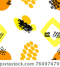 Vector abstract background. Seamless brush stroke pattern. 76497479