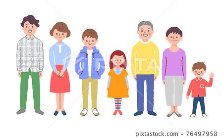 3 세대 가족 76497958