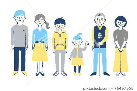 3 세대 가족 76497959