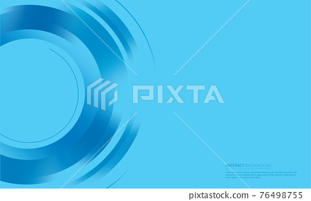 Abstract blue circle background vector illustration  76498755