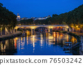 Tiber River In Rome At Night 76503242
