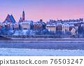 City Of Warsaw On Winter Dawn 76503247