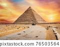 Road to Khafre pyramid 76503564